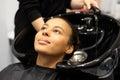 Washing Head In A Hair Salon
