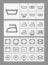 Washing instruction symbols Stock Images
