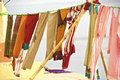 Washing line in Varanasi Royalty Free Stock Photo