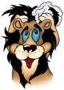 Washing Lion Royalty Free Stock Photo