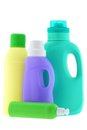 Washing liquid laundry detergent bleach bottles of isolated on white background Royalty Free Stock Photo