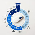 Washing machine control panel Royalty Free Stock Photos