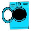 Washing machine icon, icon cartoon