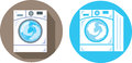 Washing machine icons of a Stock Images