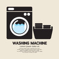 Washing machine sign vector illustration Royalty Free Stock Photos