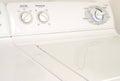 Washing machine or washer and dryer white Royalty Free Stock Photo
