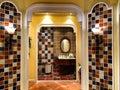 Washing room interior Royalty Free Stock Photo