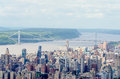 Washington bridge nyc aerial view of the george new york city Royalty Free Stock Images