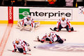 Washington Capitals warm up Royalty Free Stock Photography