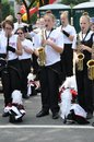 WASHINGTON, D.C. - JULY 4, 2017: musicians-participants of the 2017 National Independence Day Parade July 4, 2017 in Washington, D Royalty Free Stock Photo