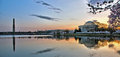 Washington d c sunrise panorama Stock Fotografie