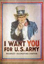Uncle Sam I Want You for the U.S. Army Recruitment Poster by Jam Royalty Free Stock Photo