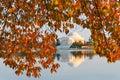 Washington dc jefferson memorial in autumn thomas Royalty Free Stock Images