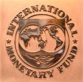 Washington, DC - June 04, 2018: Emblem of International Monetary