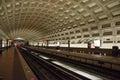 Washington DC Metro station Royalty Free Stock Photo
