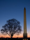 Washington dc monument landmark sunset Royalty Free Stock Photo