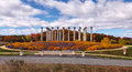 Washington dc national capitol columns in autumn the are located the united states arboretum which is operated by the us Royalty Free Stock Photos