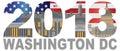 2018 Washington DC USA Flag Outline vector Illustration