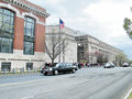 Washington government cortege on a street of dc usa Royalty Free Stock Photos
