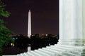 Washington monument from the steps di jefferson memorial Fotografia Stock Libera da Diritti
