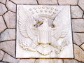 Washington pluribus unum united states seal carved into stone in dc Stock Photography