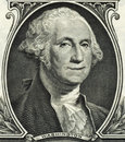 GEORGE WASHINGTON SMILING DOLLAR BILL Royalty Free Stock Photo