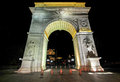 Washington square arch in new york city at night Royalty Free Stock Photo
