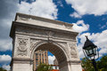 Washington square arch in new york famous which was built city Stock Images