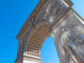 Washington square famous arch at the in nyc Royalty Free Stock Images