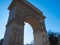Washington square famous arch at the in nyc Royalty Free Stock Photography