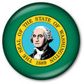 Washington state flag button Stock Images