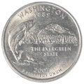 Washington state quarter coin Royalty Free Stock Photo