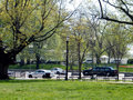 Washington us presidential cortege president moves out of white house in dc usa Stock Images