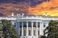 Washington White House on sunny day Royalty Free Stock Photo