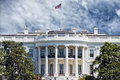 Washington White House on sunny day Royalty Free Stock Photo