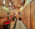 Washroom in mexican restaurant Royalty Free Stock Photo