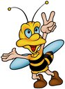 Wasp Gesturing Victory Royalty Free Stock Photo