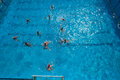 Wasserball swimmingpool aktion Lizenzfreies Stockbild