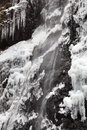 Wasserfall im Winter Stockfoto