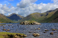 Wast water lake district uk england nature of the the journey to mountain mountain landscape nature Royalty Free Stock Images