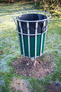 Waste bin in a park Stock Images