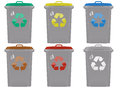 Waste bins Stock Photo