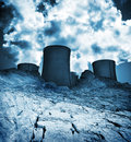 Waste land, industrial environment pollution Stock Photos