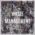 Waste Management. Landfill for waste storage. View from above. Royalty Free Stock Photo