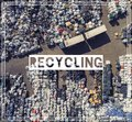 Waste Management. Recycling. View landfill bird`s-eye view. Land Royalty Free Stock Photo