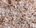 Waste sawdust from the carpenter to build the wooden house Royalty Free Stock Photos