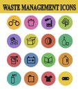 Waste sorting icons vector illustration of management Stock Image