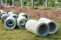 Waste water drain construction pipe Royalty Free Stock Photos