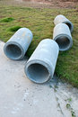 Waste water drain construction pipe Stock Photography