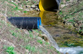 Waste water pipe polluting environment Royalty Free Stock Photos